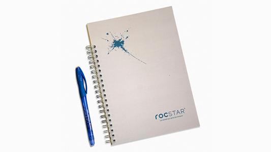 Le carnet perpétuel est un carnet réutilisable à l'infini grâce au papier minéral et à l'encre effaçable